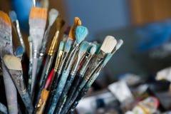 Différentes brosses de peinture Image libre de droits