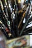 Différentes brosses de peinture Photo libre de droits