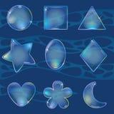 Différentes bulles formées dans l'eau illustration stock