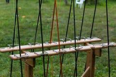 Différentes cannes à pêche Photo libre de droits