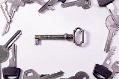 Différentes clés Photographie stock