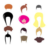 Différentes coiffures élégantes. Photos stock