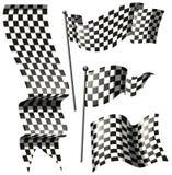 Différentes conceptions d'emballer des drapeaux illustration de vecteur