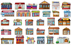 Différentes constructions Photo stock
