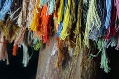 Différentes couleurs de fil de broderie Photographie stock libre de droits