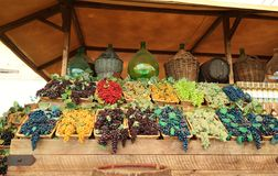 Différentes couleurs de raisins Photos stock