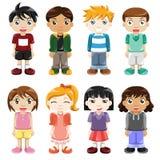 Différentes expressions d'enfants Images libres de droits