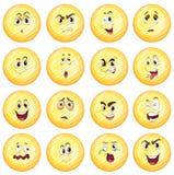 Différentes expressions du visage Images stock