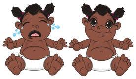 Différentes filles de bébés de nègre illustration de vecteur