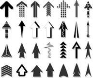 Différentes flèches Photo stock