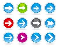 Différentes flèches de type Illustration Stock