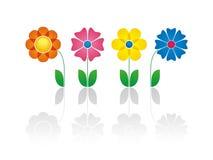 Différentes fleurs illustration stock