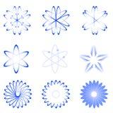 Différentes formes d'atome illustration libre de droits
