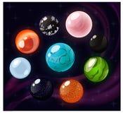 Différentes gemmes réglées Photographie stock