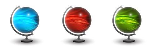 Différentes globe-boules dans 3d Images stock