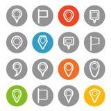 Différentes goupilles de navigation réglées avec les coins arrondis Images libres de droits