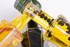 Différentes huiles de table photo stock