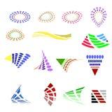 Différentes icônes colorées Logo coloré d'affaires illustration stock