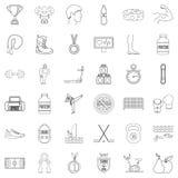 Différentes icônes de sport réglées, style d'ensemble Photographie stock