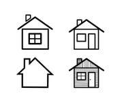 Différentes icônes à la maison. Photographie stock libre de droits
