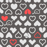 Différentes icônes abstraites de coeur Photos stock