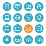 Différentes icônes d'application réglées avec les coins arrondis Image stock