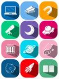 Différentes icônes de la science et technologie illustration libre de droits