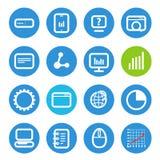 Différentes icônes de SEO réglées avec les coins arrondis illustration stock