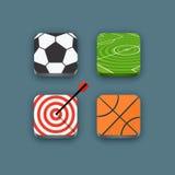 Différentes icônes de sports réglées Photo libre de droits