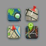 Différentes icônes de voyage réglées avec les coins arrondis illustration de vecteur