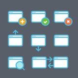 Différentes icônes de web browser réglées avec les coins arrondis illustration stock