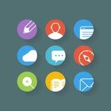 Différentes icônes de web browser réglées avec les coins arrondis Image stock