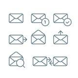 Différentes icônes de web browser réglées avec les coins arrondis Photo libre de droits