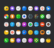 Différentes icônes modernes d'application de smartphone réglées Photo stock
