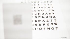Différentes lettres de focalisation d'avant et de dos pour l'inspection optique banque de vidéos