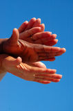 Différentes mains Image libre de droits