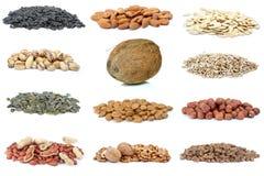 différentes noix réglées Photo stock