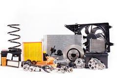 Différentes nouvelles pièces pour la réparation de voiture Photographie stock libre de droits