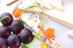 Différentes pentes de fromage Photo stock