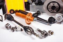 Différentes pièces de voiture pour la réparation Photos libres de droits