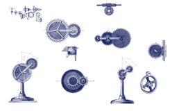 Différentes pièces mobiles mécaniques Illustration Libre de Droits