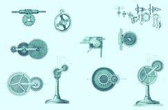 Différentes pièces mobiles mécaniques Illustration de Vecteur