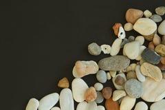 Différentes pierres de caillou de couleurs Photographie stock libre de droits