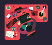 Différentes professions Business illustration de vecteur