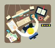 Différentes professions Business illustration stock