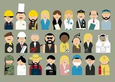 Différentes professions de personnes Images stock