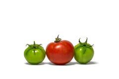 Différentes tomates d'isolement de couleurs sur le fond blanc photographie stock libre de droits