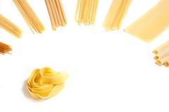 Différentes variétés de macaronis, Photographie stock