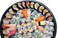 Différentes variétés de sushi Image stock