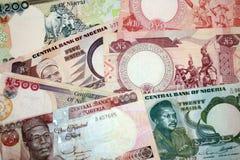 Différentes vieilles factures Nigéria. Photos stock